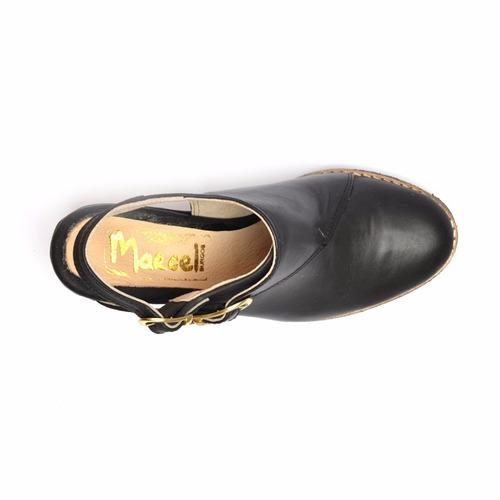 zueco de cuero marcel calzados (cod.17020) negro.